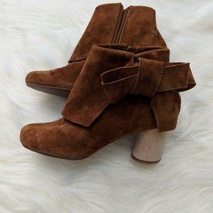 Jeffrey Campbell cognac  bow/block heel bootie